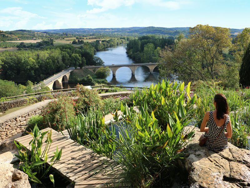 Visite des jardins panoramiques de Limeuil